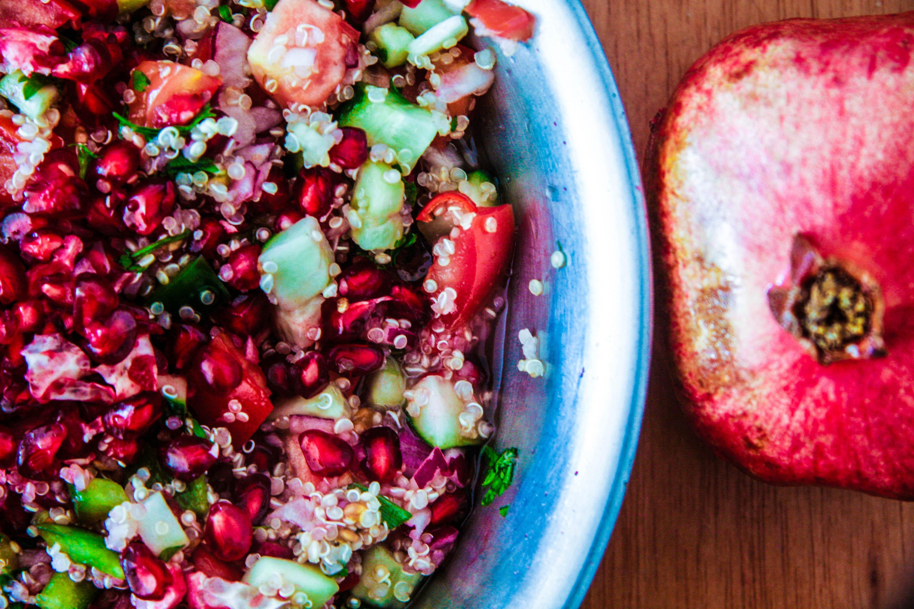Pomegranate SeasonPomegranate Quinoa Israeli SaladPick Up The