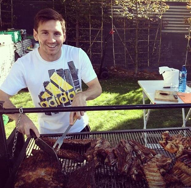 Image result for Messi eating food